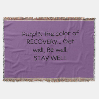 Purple throw blanket...