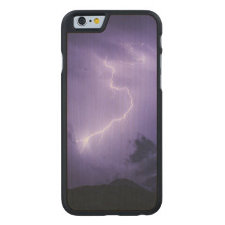 Purple Thunderstorm at Night Carved Maple iPhone 6 Case
