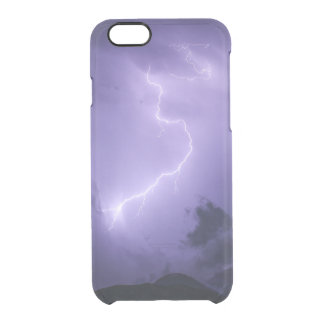 Purple Thunderstorm at Night Clear iPhone 6/6S Case