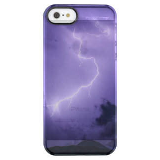 Purple Thunderstorm at Night Clear iPhone SE/5/5s Case