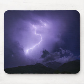 Purple Thunderstorm at Night Mouse Pad