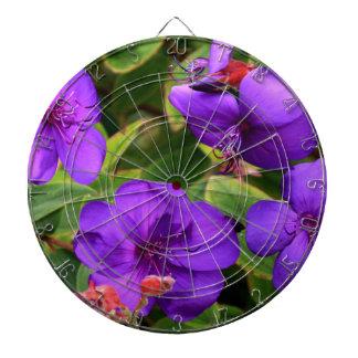 Purple Tibouchina Flowers Dartboard