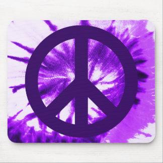 Purple Tie-dyed Peace Symbol Mouse Pad