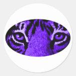 Purple Tiger Eyes jGibney The MUSEUM Zazzle Stickers