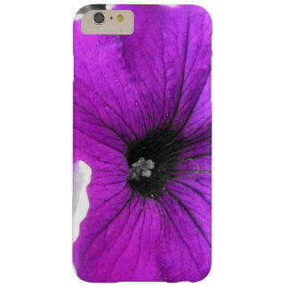 Purple Tinted Black and White Petunias Barely There iPhone 6 Plus Case
