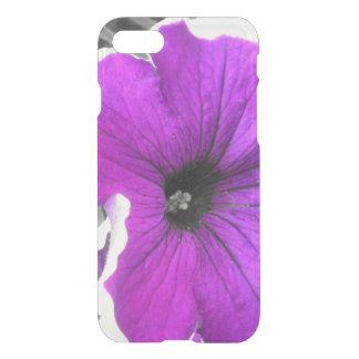 Purple Tinted Black and White Petunias iPhone 8/7 Case