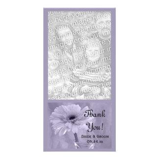 Purple Tinted Daisy Wedding Thank You Card
