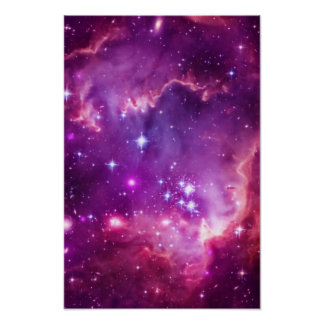 Purple Tinted Small Magellanic Cloud Posters