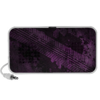 Purple Tire Track Grunge Doodle Speaker