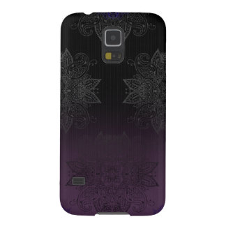 Purple to Black Fade Mehndi Galaxy S5 Case