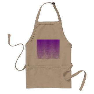 Purple to White Chevron ZigZag Pattern Adult Apron