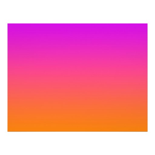purple top orange bottom gradient background personalized flyer