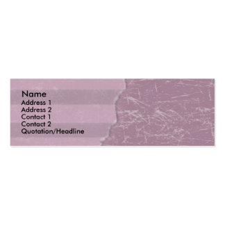 Purple Torn Paper design Skinny Business Cards