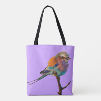 Purple tote bag Pretty song bird Lighthouse Route