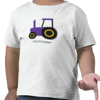 Purple Tractor Just Add Name Tee Shirts