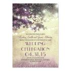 Purple tree Lights & Birds Wedding Invitation