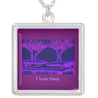 Purple Trees Pendants