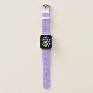 Purple Triangle Flower Pattern Apple Watch Band