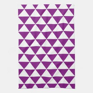 Purple Triangle Pattern Kitchen Towel