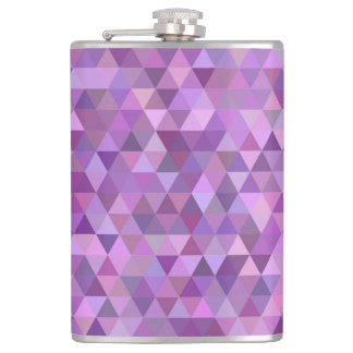 Purple triangles hip flask