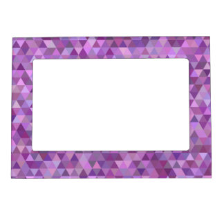 Purple triangles magnetic frame