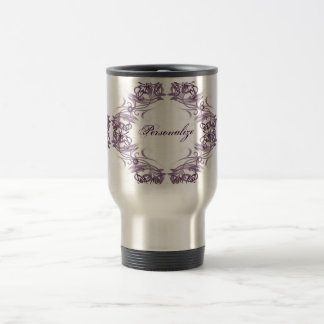 Purple Tribal Butterflies Travel Mug