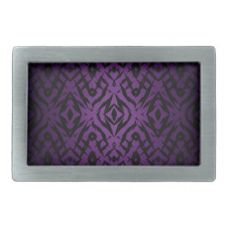 Purple tribal shapes pattern belt buckles