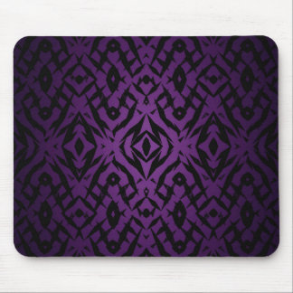 Purple tribal shapes pattern mouse pad