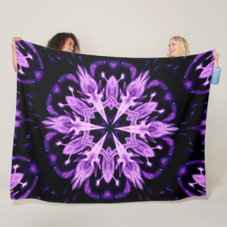 Purple Tribal Unicorn Spirit Medicine Wheel Plush Fleece Blanket