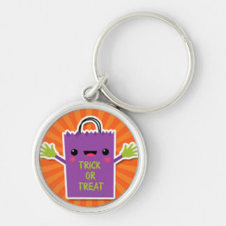 Purple Trick or Treat Bag.jpg Silver-Colored Round Key Ring