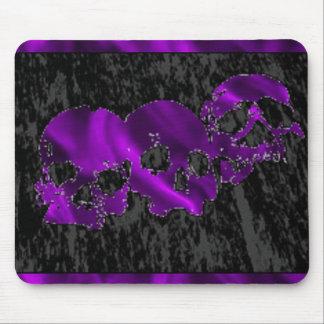 Purple Triple Skulls Mousepad
