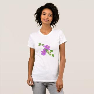 Purple Tropical Flowers T-Shirt