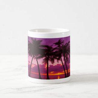 Purple Tropical Sunset 1 Basic White Mug