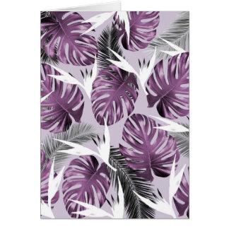 Purple Tropics Card