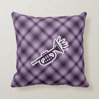 Purple Trumpet Throw Pillow