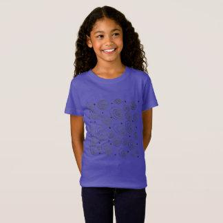 Purple tshirt with circles