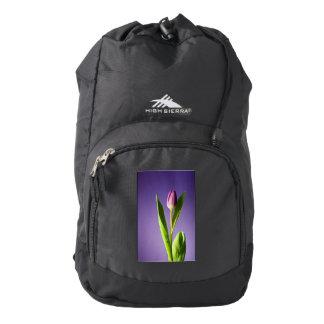 Purple tulip backpack