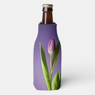 Purple tulip bottle cooler
