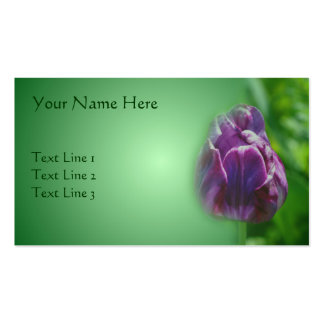 Purple Tulip Flower Nature Business Card