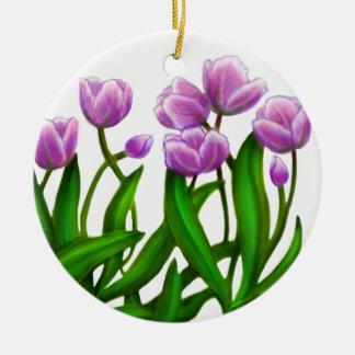 Purple Tulip Garden Ornament