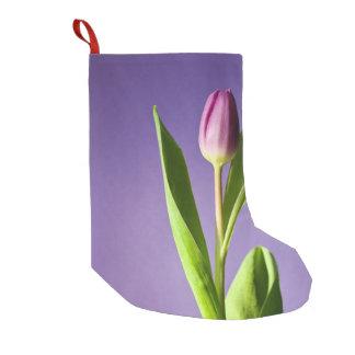Purple tulip small christmas stocking