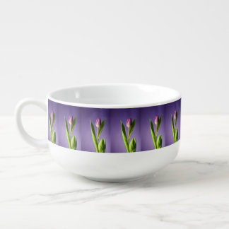 Purple tulip soup mug