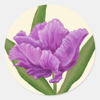 Purple Tulip sticker