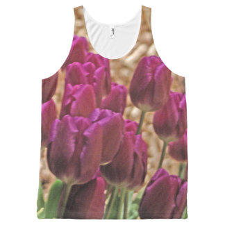 Purple Tulips All-Over Print Tank Top