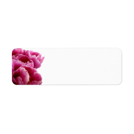 Purple Tulips Avery Return Address Labels