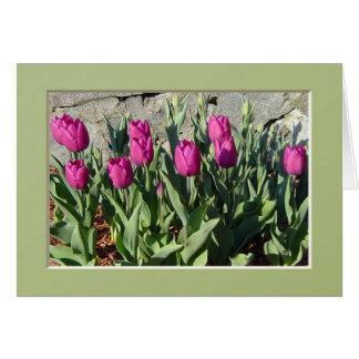 Purple Tulips notecard Greeting Card