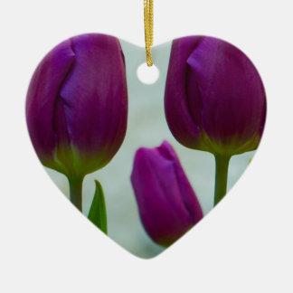 Purple Tulips Ornament