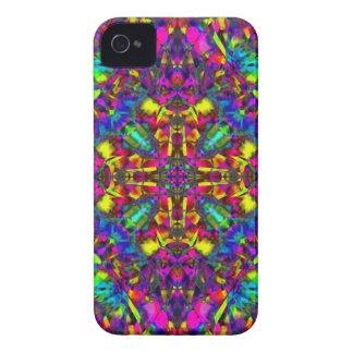 Purple Turquiose and Yellow Mandala Pattern iPhone 4 Covers