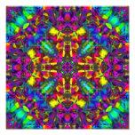 Purple Turquiose and Yellow Mandala Pattern Photo Art