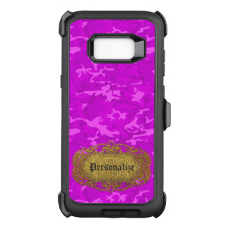 Purple  - Turquoise Camouflage OtterBox Defender Samsung Galaxy S8+ Case